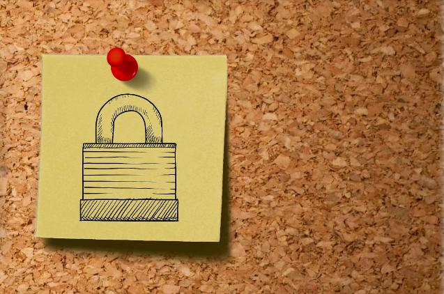 post it cu desen lacat securitate online